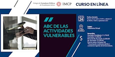 ABC de las Actividades Vulnerables entradas