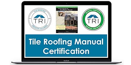 October 22, 2021 - TRI Manual Certification Webinar tickets