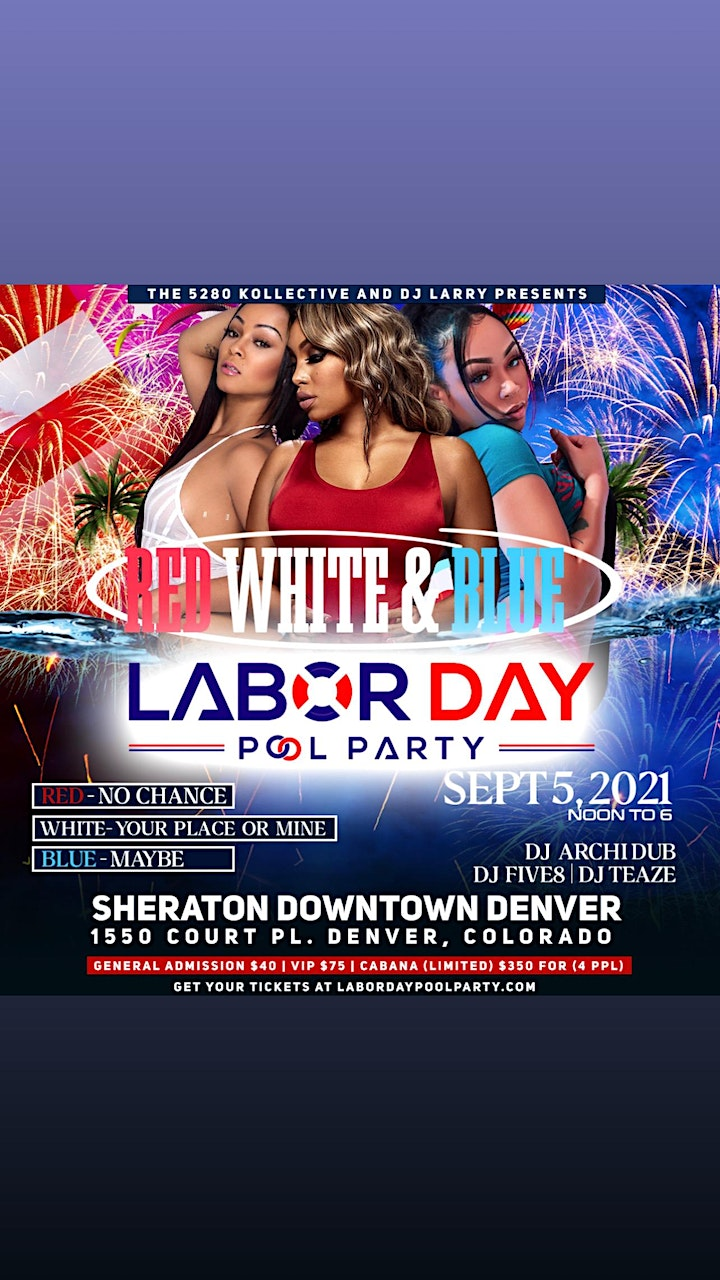 Red, White and Blue Labor Day Pool Party (Single, Dating, and Taken) image