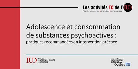 Adolescence et consommation de  substances psychoactives billets