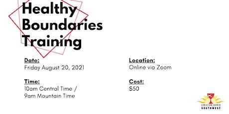 Healthy Boundaries (Online Event) tickets
