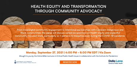 Health Equity and Transformation through Community Advocacy tickets