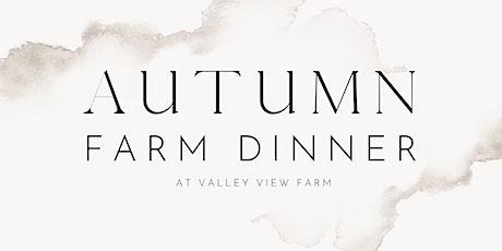 Autumn Farm Dinner Tasting tickets