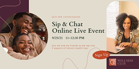 Sip and Chat event tickets