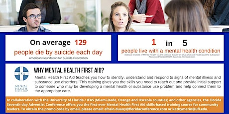Mental Health First Aid Training with Cultural Competencies for Leaders tickets