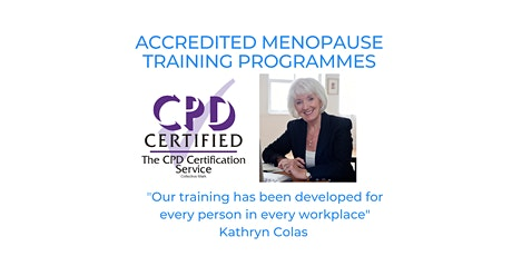 Menopause - Professional Accredited Menopause Training for every business tickets