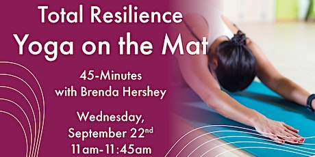 45-Minute Total Resilience Yoga on the Mat with Brenda Hershey tickets