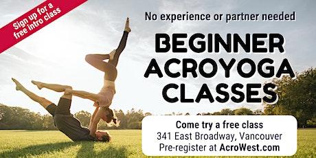 Free Beginner Acroyoga Class tickets