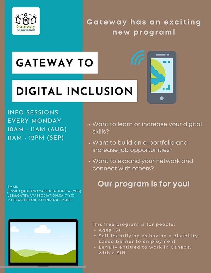 Gateway to Digital Inclusion Program Info Session image