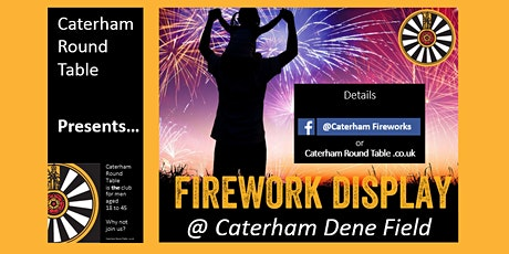 Caterham Fireworks 2021 - By Caterham Round Table tickets