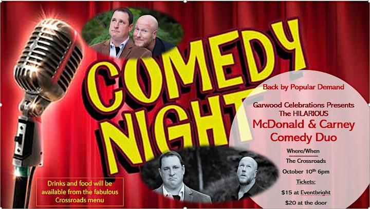 Garwood Celebrations Comedy Show- McDonald & Carney image