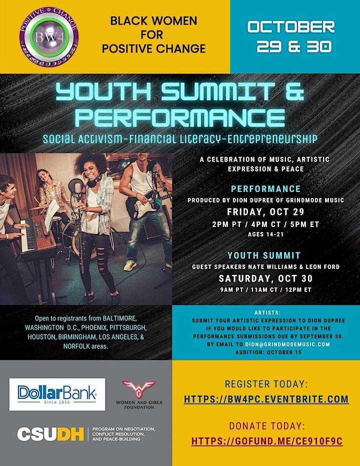 Black Women 4 Positive Change Virtual Youth Summit image