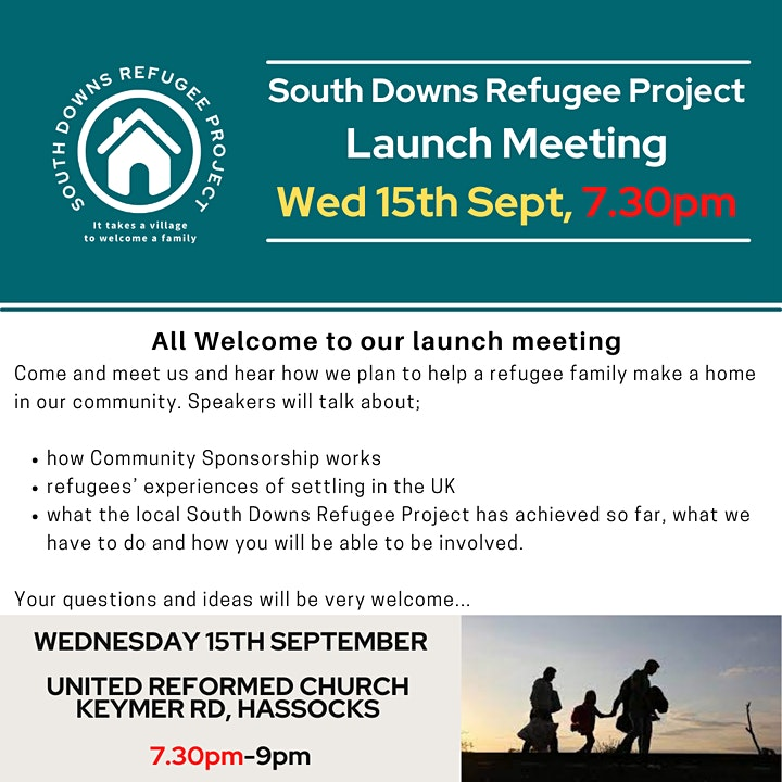 South Downs Refugee Project Launch Meeting image