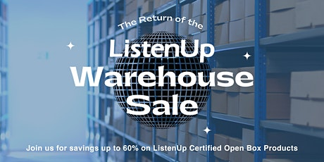 The Return of the Warehouse Sale tickets