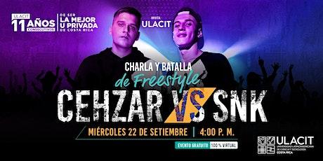Charla y Batalla de freestyle con SNK y Cehzar tickets