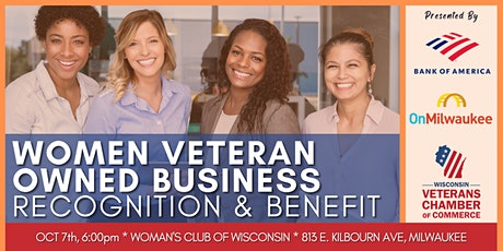 Women Veteran Owned Business Recognition & Benefit tickets