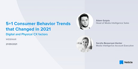 5+1 Consumer Behavior Trends that Changed in 2021 tickets