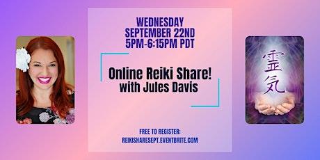 Online Reiki Share with Reiki Master Jules Davis - Free tickets