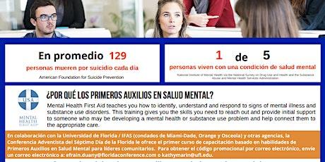 Capacitación en primeros auxilios de salud mental y cultura para líderes tickets