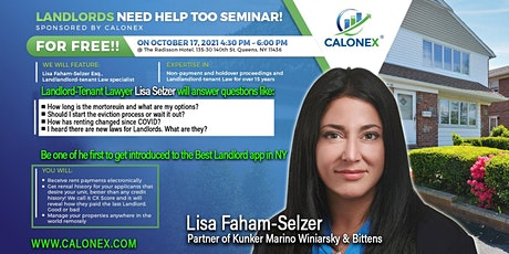 Landlords need help too Seminar tickets