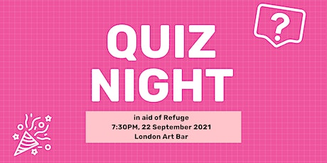 Fundraiser Quiz in aid of Refuge tickets