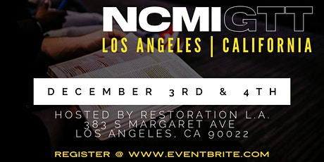 NCMI Geographical Training Time - Los Angeles, CA tickets