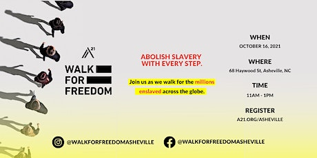 Walk For Freedom Asheville tickets