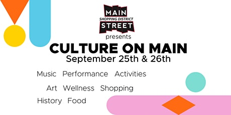 Culture on Main tickets