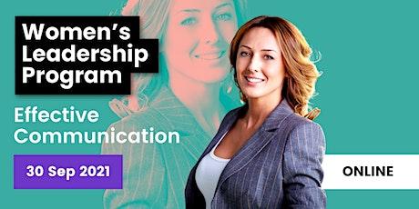 ONLINE Women's Leadership Program: Effective Communication tickets
