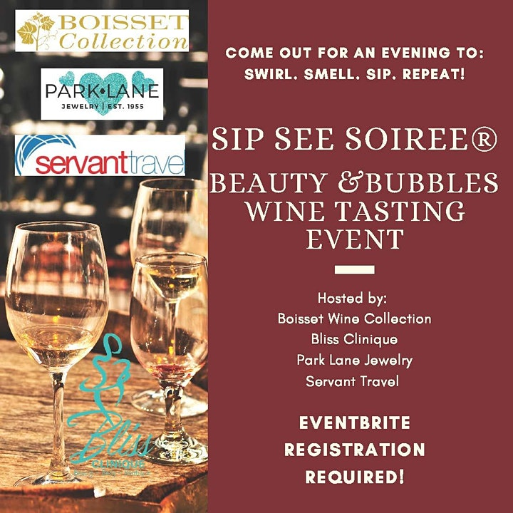 Sip See Soiree / Beauty & Bubbles Wine Tasting Event image