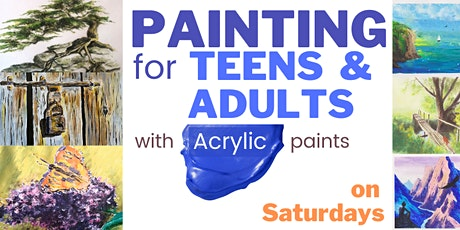 PAINTING for TEENS & ADULTS - every Saturday - [LIVE in ZOOM] tickets