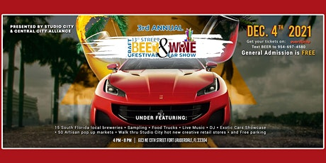 3rd Annual 13th Street Craft Beer & Wine Festival with Exotic Car Show tickets