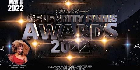 LUXURY FASHION SHOW   INTERNATIONAL CELEBRITY AWARDS PARIS  MAY 08 2022 billets