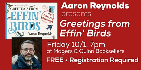 Aaron Reynolds presents Greetings from Effin' Birds tickets