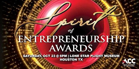 2021 Asian Chamber Spirit of Entrepreneurship Awards tickets