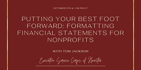 Putting your Best Foot Forward: Formatting Financial Statements tickets