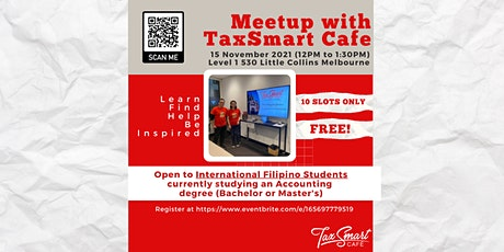 Meetup w/ TaxSmart Cafe: Creating Opportunities for Int'l Filipino Students tickets