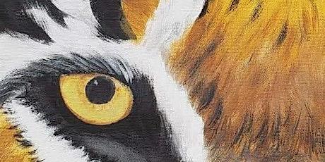 Virtual Painting Class - Tiger eye tickets