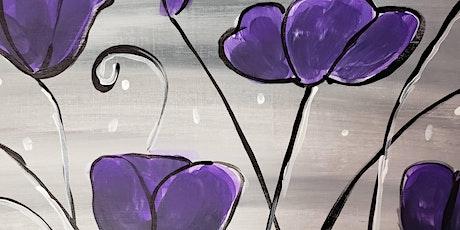 Virtual Painting Class - Purple Glam tickets