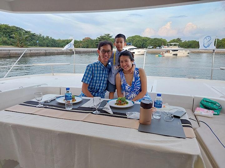Sunset Dining on Catamaran image