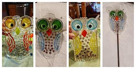 Upcycled Glass Garden Owl Plate - Garden City tickets