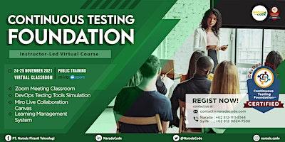 Continuous Testing Foundation Training Jakarta, November 24th 2021