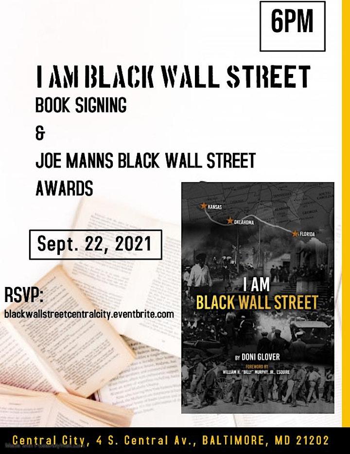 I Am Black Wall Street Book Signing & Joe Manns Awards image