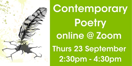 Contemporary Poetry On Zoom tickets
