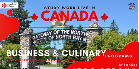 FREE WEBINAR:  BUSINESS & CULINARY PROGRAM WITH CANADORE COLLEGE tickets