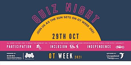 OT Week 2021 - Fundraiser Quiz Night tickets