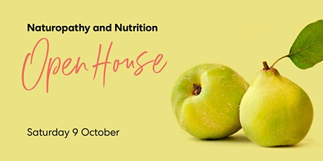 2021 Natural Health Open House Naturopathy & Nutrition - Perth - 9 Oct tickets