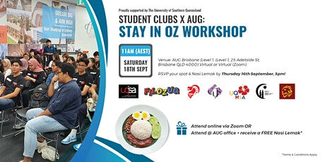 [AUG Brisbane] Student Clubs x AUG Stay in Oz Workshop S2, 2021 tickets