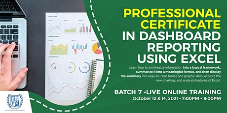 Dashboard Reporting Using Excel  - Batch 7 billets