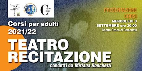 Presentazione Corsi di Recitazione, Teatro è terapia,  Voce biglietti